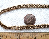 2 Vintage Brass Chains/Necklaces, 30 Inch, Unusual Link, 6mm x 11mm
