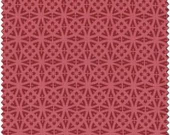 Lacy Medallion in Red, Cottage Romance by Maywood Studio 2142-r cotton fabric Fat Quarter FQ or custom listing