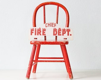 Vintage Fire Chief Sign