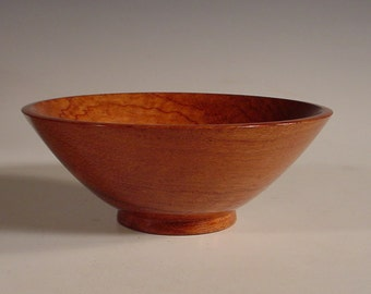 African Bubinga Wood Bowl Turned Wooden Bowl Number 5826