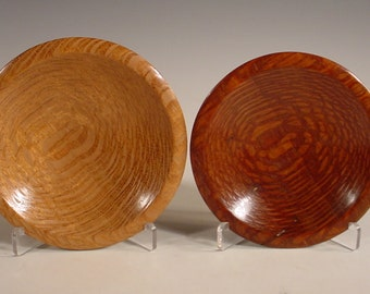 Brazilian Leopardwood and Australian Lacewood  Ring Dishes Number 5889 5890