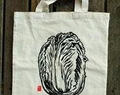 Screenprinted Napa Cabbage Tote Bag
