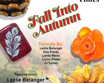 October 2014 Soda Lime Times Lampworking Magazine - Fall into Autumn- (PDF) - by Diane Woodall