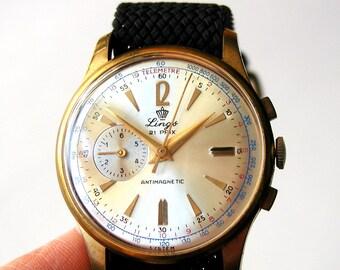 Lings 21 Prix vintage wristwatch, black braided nylon tropical band