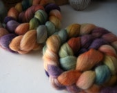 Corriedale Roving/ Top, Hand Dyed Wool for Spinning  and Felting, Domestic Corriedale Fiber, 4 oz  COR0028