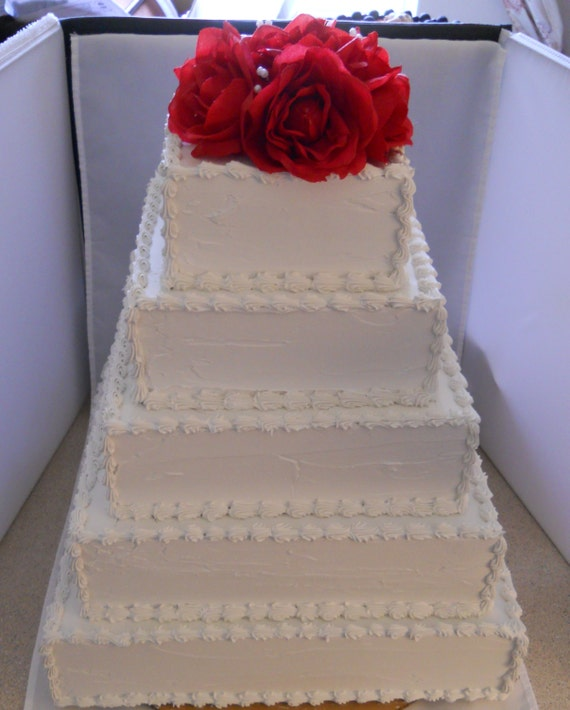 wedding cake layer height custom 5 layer wedding cake with faux roses 23069