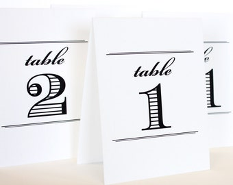 Uptown Printable Table Number Tent Cards DIY You print Instant Download Set 30 4.25x5 finished size