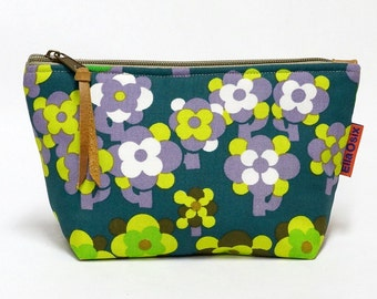 vintage fabric zippered pouch