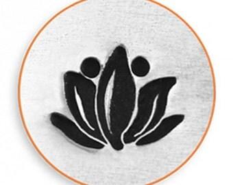 Impress Art 6mm Lotus Flower Metal Stamp Design Stamp  Decorative Stamp