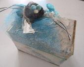 Box - gift wrap, jewelry box-Birds nest