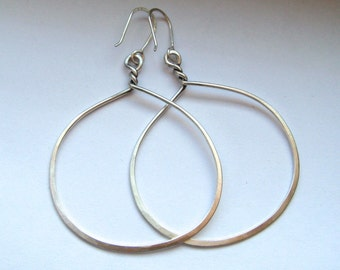 Sterling Silver Twisted Hoops Large