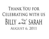 Thank you for sharing in our special day custom rubber stamp Wedding stamps --5650
