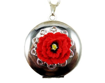 Poppy Locket Necklace -  Poppy Jewelry