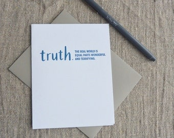 Letterpress Greeting Card - Truthnote - Real World - Graduation - 101-031
