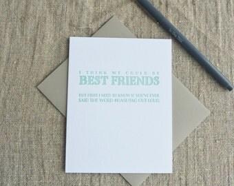 Letterpress Greeting Card - Dealbreaker - Hashtag - 110-002