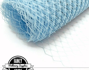 Baby Blue Veiling - Netting - French - Russian - Light Blue - 1 Yard