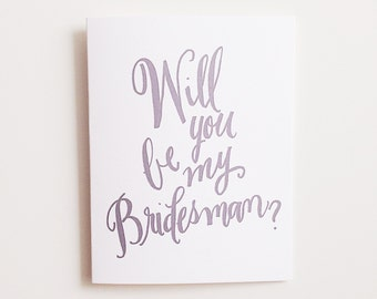 Will you Be my Bridesman? ~ Greeting Card