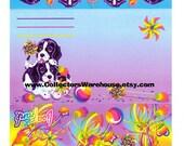 Lisa Frank Postalette Violet & Velvet fold up stationery letter Spaniel puppies