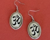 Sale 20% Off // OM SYMBOL Earrings - Silhouette Jewelry // Coupon Code SALE20