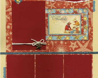 Make a Wish on a Starfish - Premade Scrapbook Page