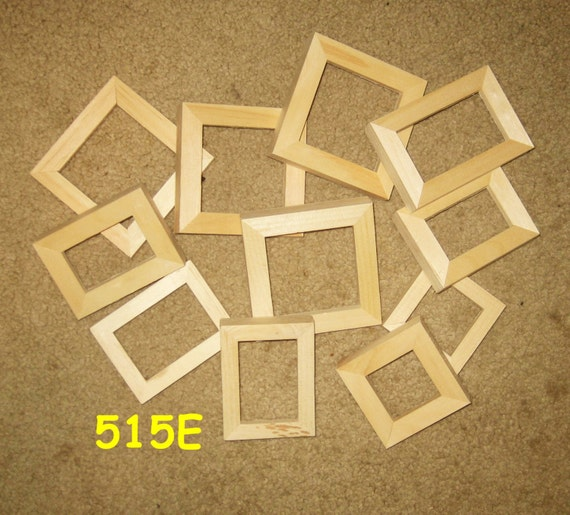 10 unfinished mini wood picture frames my no 515e. Black Bedroom Furniture Sets. Home Design Ideas
