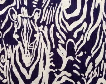 """bright navy full entourage vintage dobby cotton fabric square 18""""x18"""" ~ lilly fall 2014 ~ lilly pulitzer"""