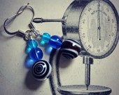 African Sky - mixed glass bead earrings