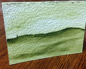Green Isolation 2 - Original Watercolor ACEO