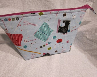 Sewing theme pouch bag
