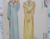 Vintage McCall's pattern  6257 misses nightgown size 14