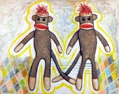 Sock Monkey - Print