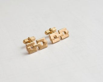 Vintage Cuff Links Swank Brand with Gold Chain Link
