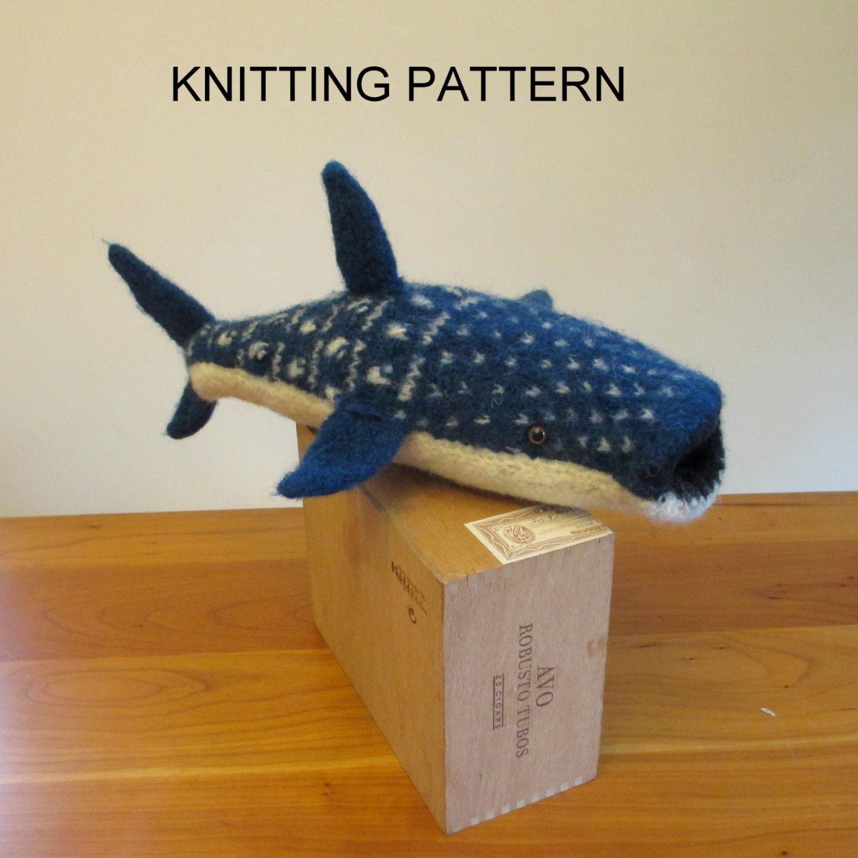 Whale Shark Knitting Pattern Stuffed Toy Shark Pattern