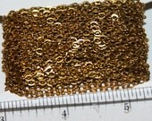 32ft spool of raw brass color cable chain 3X3mm solder chain old gold color chain