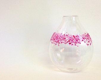 NEW Confetti Bud Vase - Pinks - Handblown Glass