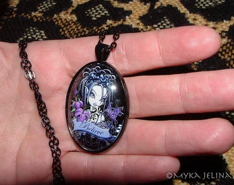Myka Jelina Fantasy Fairy Art Sophia Lily Glass Necklace