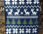 Fair Isle Christmas or Winter Quilt
