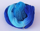 Blues Hues -  lamb wool hand dyed fingering weight yarn