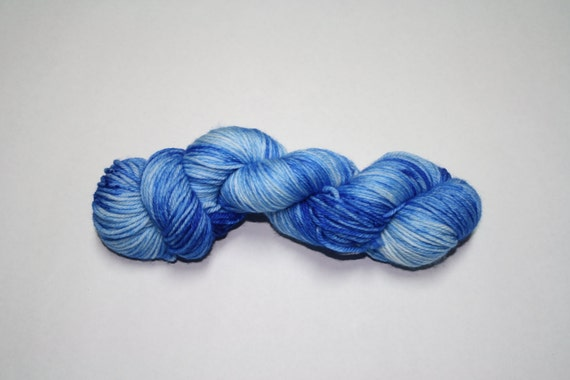 Winter Blues Hand Dyed Sock Yarn