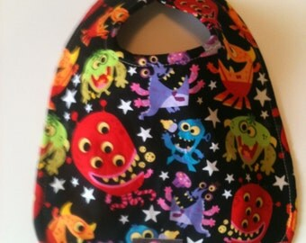 Baby Bib - Girly Monster 10 x 12.5