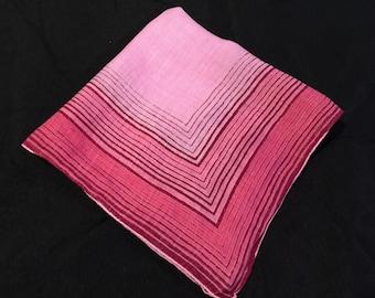 Vintage Shades of Pink Ladies' Hankie/Handkerchief