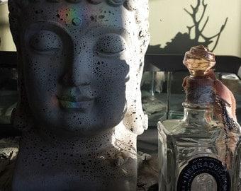 Wish jar or prayer bottle altered art barn wedding bohemian western southwest