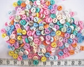 100 pcs of tiny button 6.5mm - Another Pastel White Beige Purple Yellow Blue Green Orange Earth Pink