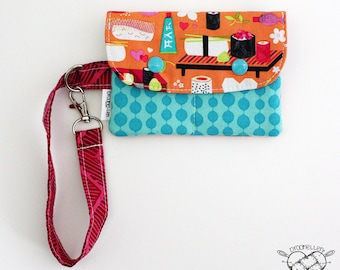 Wallet Wristlet SMALL Sushi