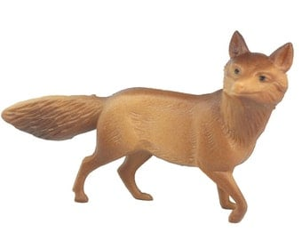 Vintage Prowling Fox miniature fox vintage fox diorama dollhouse fox craft figurine - IV3-2461