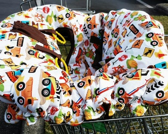Shopping Cart Cover - Dig It - Reversible - Fits Restaurant High Chairs, Park Swings and ALL Carts