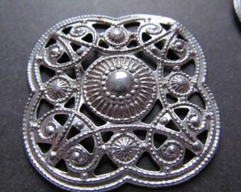 Vintage Steel Filigree Findings (2)