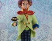 The Mad Hatter Doll Alice in Wonderland Miniature Art Children's Literature Character