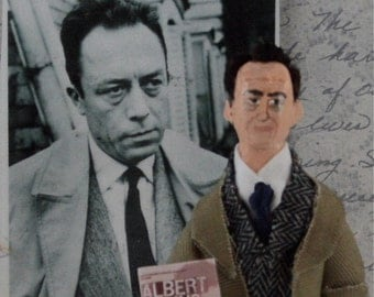 Albert Camus Doll Author Writer Miniature Art Collectible
