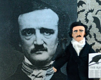 Edgar Allen Poe Miniature Gothic Art Doll Collectible